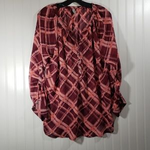 Maurices Sheer Blouse Size L